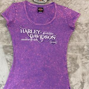 Hot Pink & Purple Harley Tee